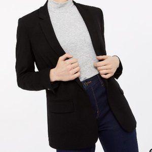 Reitmans Black Open Knit Blazer w/pockets size 14
